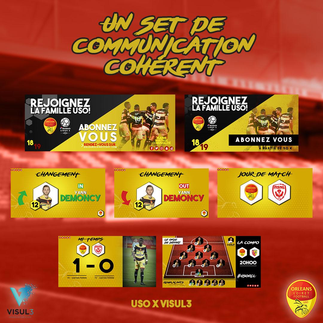 Digital : Déclinaison «LIVE MATCH» dédié aux réseaux sociaux les jours de match