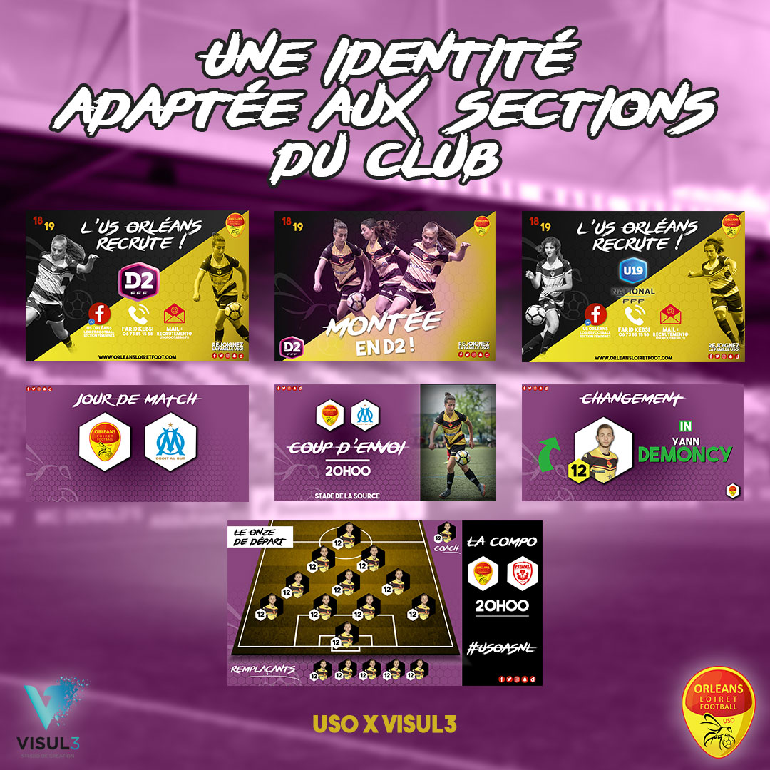 Digital : Supports digitaux dédiés à la section D2 Féminine