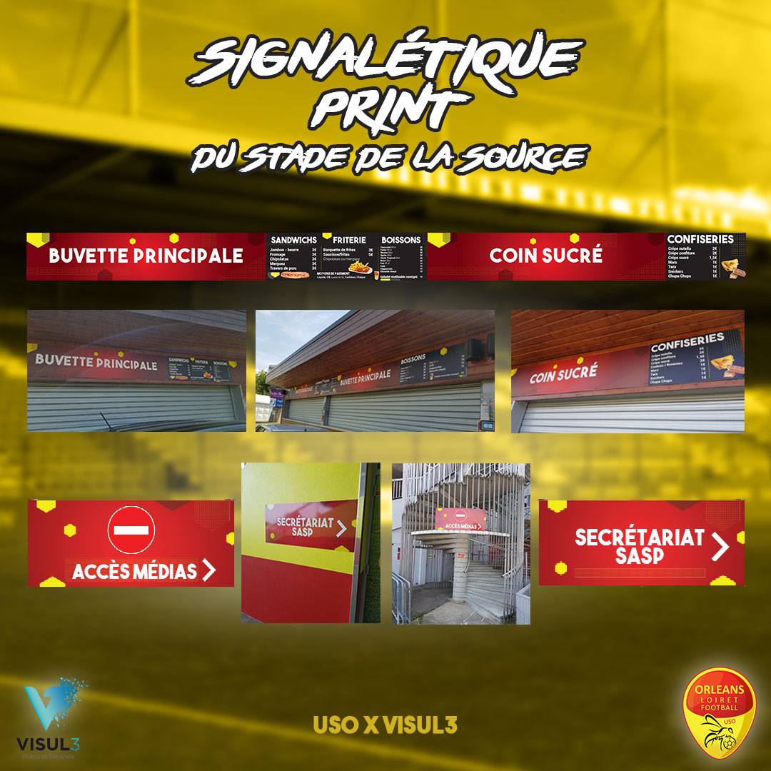Design : Signalétique du Stade de la Source